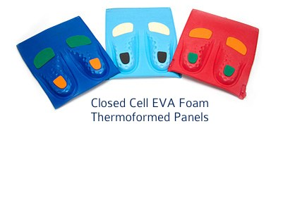 hermoformed closed cell foam panels